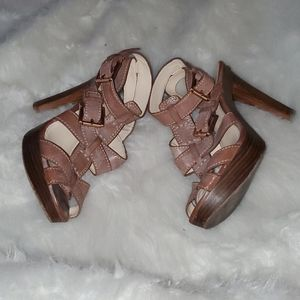 Coach Size 9 B Leather Heels